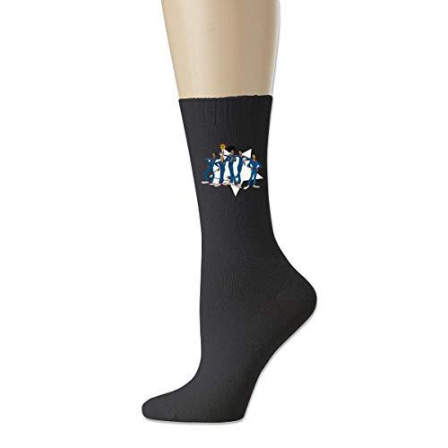 TUCBOA Herrensocken,Animierte Harlem Globetrotters Socken, Damen Casual Lightweight Socken Für Sport Biking,18cm