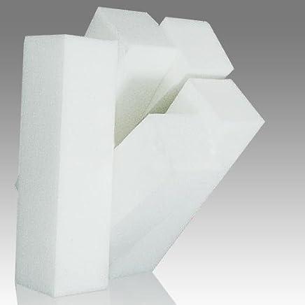 5Pcs White Buffer Buffing Sanding Files Block Pedicure Manicure Nail Art Care Xmas gift