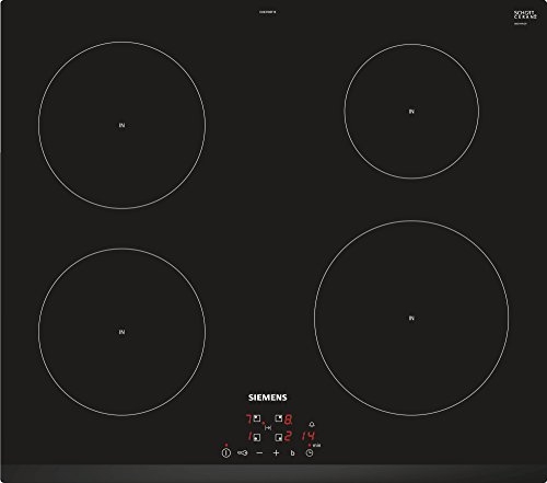 Siemens EU631BEF1E geïntegreerde inductiekookplaat met keramische kookplaat, keramische kookplaat, zwart, 1400 W