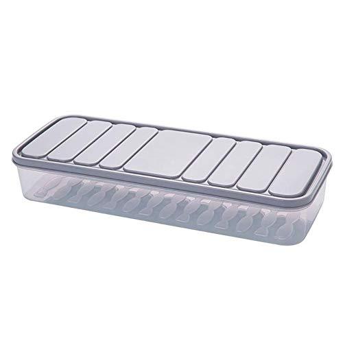 1pc Voedsel Opslag Containers Koelkast Organizer Case vriezer bewaren Vers Thuis Organizer Voedsel Container Koelkast Storage Boxes (Color : Beige)
