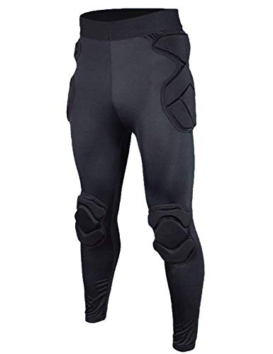 COOLOMG Men's Padded Compression Pants Crashproof Goal...