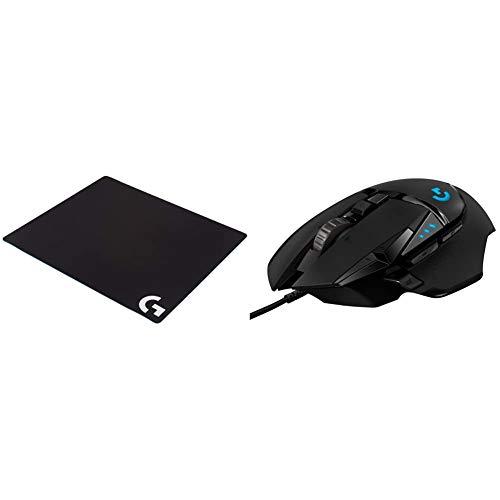logitech G G640 Large Cloth Gaming Mousepad - Black & G502 Hero High Performance Gaming Mouse
