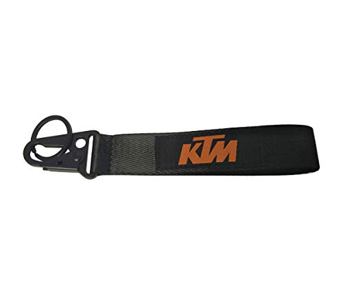 1pc Weave Tag Keychain Key Ring Embroidered Keychain Motorcycle Superbike Scooter Car ATV UTV House Keys Chain Office ID Biker Accessories Works with (KTM)