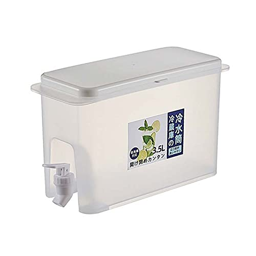 ATING Tanque de agua para bebidas, máquina de agua de gran capacidad de 3,5 l con grifo, hervidor de agua frío con grifo de fruta tetera recargable cubo de hielo, para el hogar, oficina, restaurante