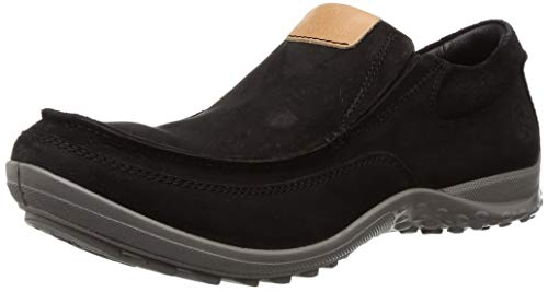 Woodland Men's 2941118 Black Leather Moccasin-7 UK (41 EU) (8 US) (GC 2941118BLACK)