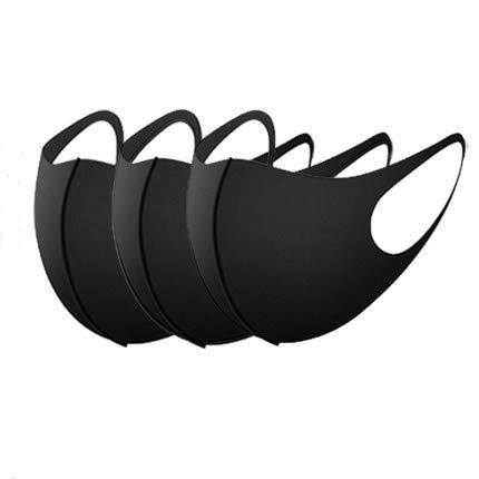 Wegwerpmasker voor kinderen, maskers en stofmaskers voor neus en mond, Qin Zao, enkele verpakking, Adulto nero, 1
