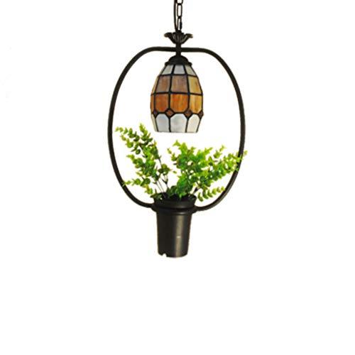 Lampe décorative en verre de bar d'hôtel de lustre de lustre d'usine de lustre 35 × 50cm (Couleur : 4)