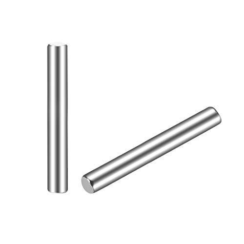 DealMux 25Pcs 2.5mm x 25mm Passstift 304 Edelstahl zylindrische Regalstütze Pin befestigen Elemente Silber Ton