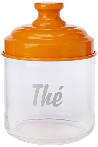 ITALO OTTINETTI Glas lackiertem Aluminium Deckel 0,75Liter TE, Einheitsgröße, orange
