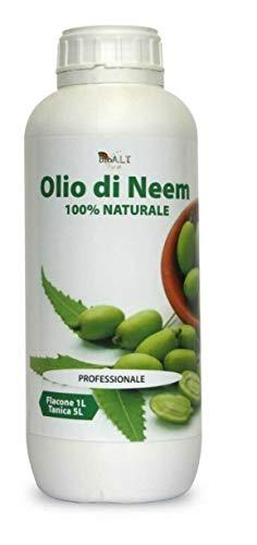 bio A.L.T Aceite de Neem 1 litro Insecticida Repelente Desinfectante Bio Huerto Huerto Huerto Anti Mosquitos e Insectos Molestos 100% Natural Uso Profesional Protección Total