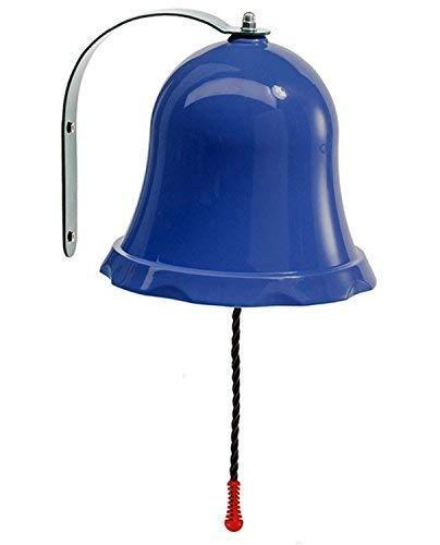 Loggyland Schiffsglocke, Klingel, Läute, für Abenteuerhaus, Baumhaus, Spielturm, Spielplatz, Gartenspielhaus, Kinderzimmer, Spielturm oder Spielhaus - Farbe blau
