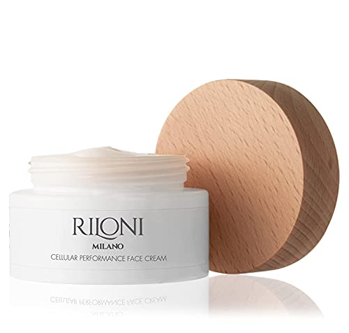 Riloni Milano Crema Viso Ultra Idratante Con Acido Ialuronico. Contiene Peptidi e Vitamina E. Skin Care Made in Italy.