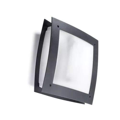 LEDs-C4 05-9444 Z5-CD-Applique darwin 1xe27 max gris 23 W E urbain