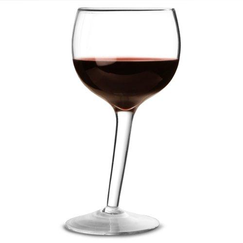 bar@drinkstuff Lot de 2 verres à vin 300ml,design penché unique ,en verre de qualitée profesionnelle