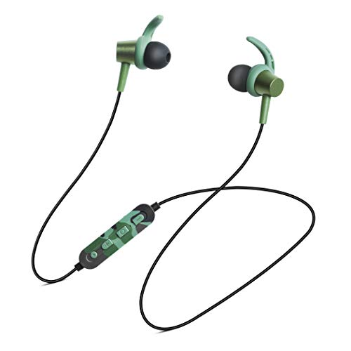 Soundlogic Heroes Edition Play Voice Assistant in-Ear Sports Earbuds Bluetooth Wireless Earphone with Deep Bass and Hands-Free Calling inbuilt Mic Headphone with Long Battery Life (Camo)