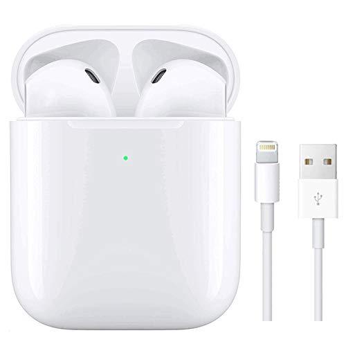 Auriculares Inalámbricos Bluetooth 5.0 con Cancelación de Ruido, Auriculares Deportivos, con Estuche de Carga portátil para Samsung/iPhone/AirPods