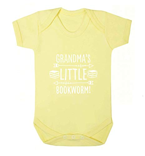 Flox Creative Gilet pour bébé Inscription Grandma's Little Bookworm - Jaune - XL