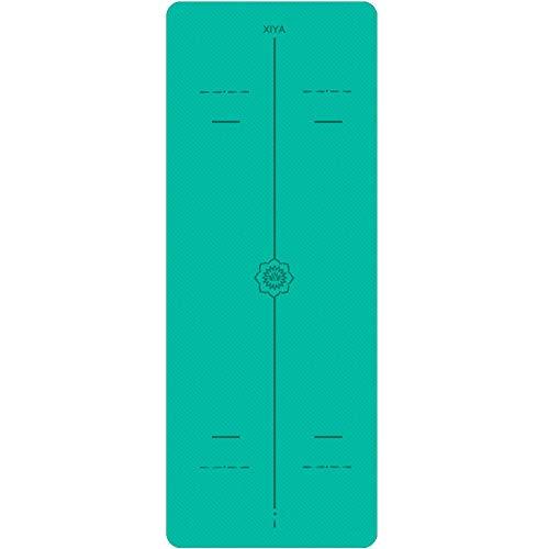 Yogamat, SGS Gecertificeerde Extra Lange Extra Grote Trainingsmat, Hoge Dichtheid Trainingsmat Met Stretchband, 183 * 71 * 0,6 Cm, Yogamat Voor Dames En Heren,Green