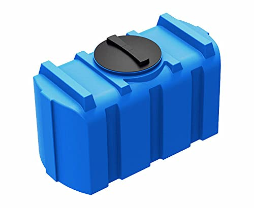 Depósito de agua de 200 l, color azul, depósito de agua potable, depósito de agua dulce