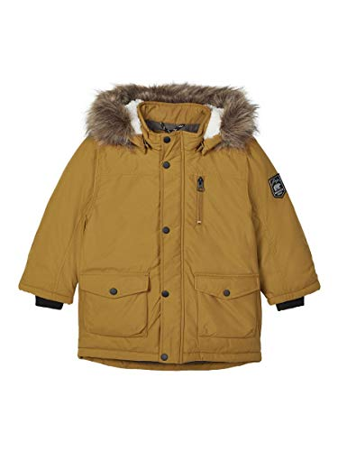 NAME IT Jungen NMMMIBIS Parka Jacket PB Jacke, Golden Brown, 116