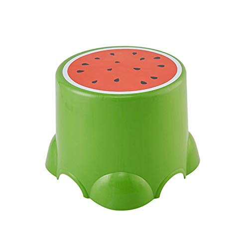 Chaise QUANFANG Tabouret Fruits en Plastique créatif bébé Enfant bébé Tabouret Dessin animé Mignon Tabouret Tabouret Petit Banc (Color : Watermelon, Size : Small)