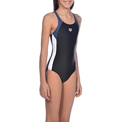 ARENA Mädchen Sport Badeanzug Ren, Black-Shark-White, 164