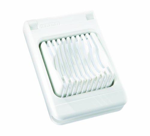 Leifheit Eierschneider ComfortLine-Serie mit 2 Funktionen, Champignonschneider schneidet sauber und exakt, kompakter Küchenhelfer zum Schneiden von Eiern, Pellkartoffeln, rostfreier Schneidedraht