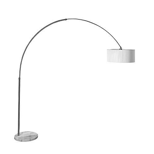 Design Bogenlampe weiß Nylon 230cm Metall schwenkbar