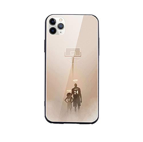 ESACLM iPhone 11 Hülle Ausgeglichenes Glas Handyhülle Stoßfest Ultradünne TPU Stoßstange Handyhüllen Kobe Bryant Case für iPhone 11 Pro/11 Pro Max,Kobe Back,11