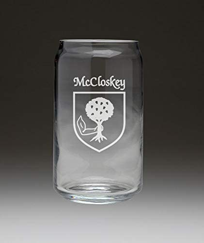 McCloskey Irish Coat of Arms Limited SEAL limited product time trial price Beer 4 Can - Glass Set