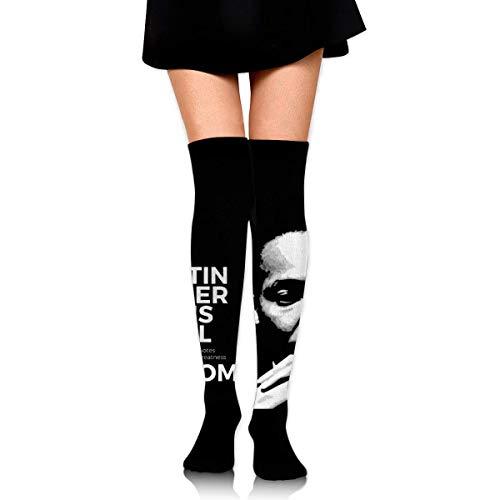 iuitt7rtree Thigh High Socks Martin Luther King's Pearl Of Wisdom Knee High Long Socks Boot High Socks For Women