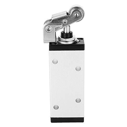 Válvula manual, Válvula manual de aleación de aluminio G1/4'Válvula mecánica de cinco posiciones y dos posiciones XQ250612 Accesorio industrial para sistemas neumáticos Durabilidad Larga vida útil
