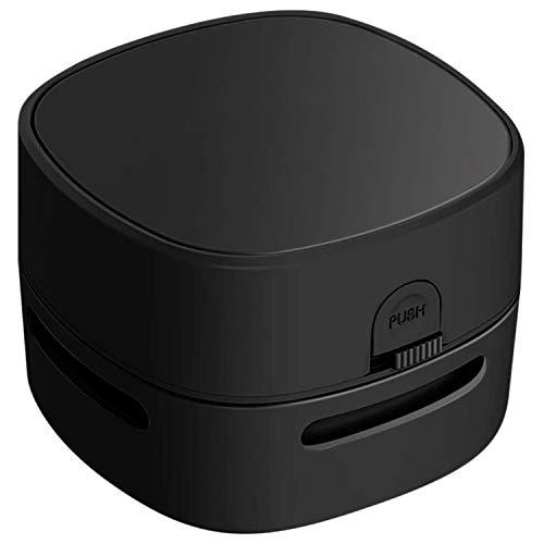 bobotron Aspirador portátil inalámbrico de escritorio, recogedor de polvo de batería, limpiador de escritorio, para el hogar, escuela, oficina, negro