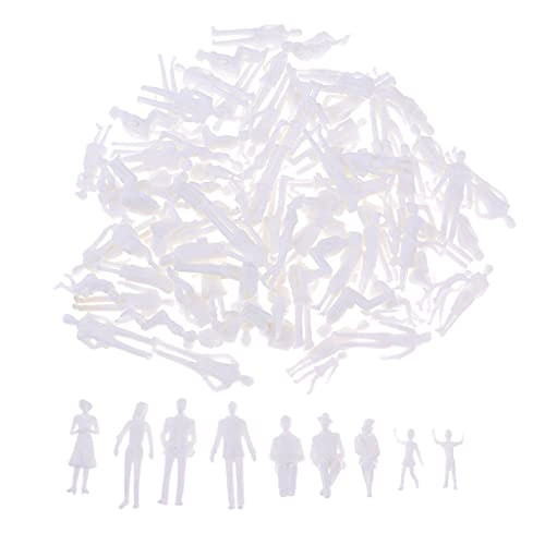 T TOOYFUL Figuras de Pasajeros de Mujer Y Hombre a Escala 1:30 en Blanco Sin Pintar para Dioramas Callejeros