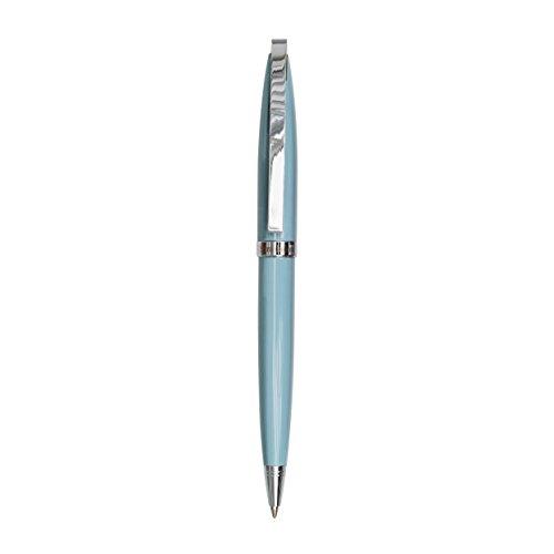 Semikolon (353473) Kugelschreiber New Classic in Etui ciel (hell-blau) | Schweizer Mine in schwarz | Hochwertiger, edler Kugelschreiber in Geschenkbox