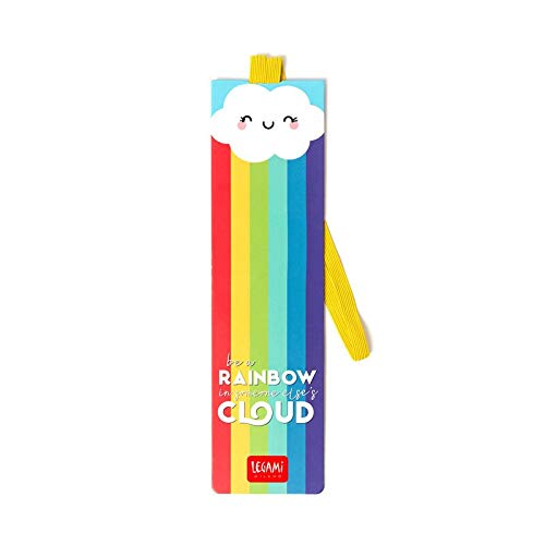 Legami Milano SE0234 - Segnalibro con Elastico - Be a rainbow in someone else's cloud
