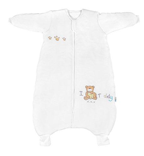 Slumbersac - Sacco nanna con piedini per neonati 3.5 Tog – i Love Teddy – disponibile in 4 misure