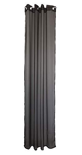 Hornbach Ösenschal Gardine Store Dekoschal Vorhang Halbtransparent 140 x 255 cm Taupe
