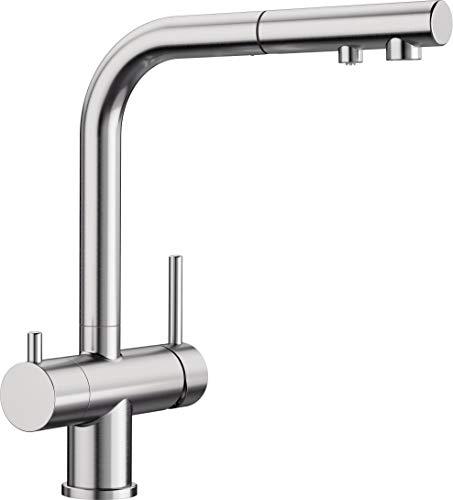 BLANCO FONTAS-S II Filter – Grifo para Cocina con Filtro de Agua Integrado y Caño Extraíble – Acabado en Acero Inoxidable UltraResist – 525230