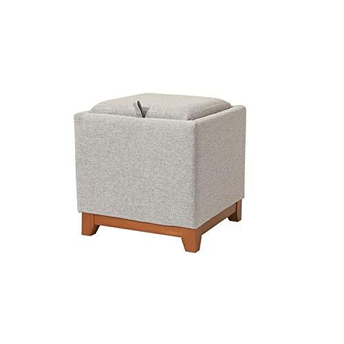 KJLY Poggiapiedi, sgabello da stoccaggio pieghevole, sgabello da riposo del piede, sgabello spostamento sgabello divano multi-funzione panca, sgabello per grafici in legno massello, rifornimento di sp