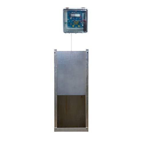 Rural365 Automatic Chicken Coop Door - Electronic Chicken Coop Door Automatic Chicken Door, Light Sensor and Timer