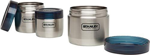 Stanley Adventure Edelstahl-Vorratsdosen-Set für Proviant, 400 / 650 / 950 ml, Stainless, 18/8 Edelstahl, Auslaufsicher, robuste Deckel, Food Container Speisebehälter