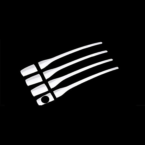 Cubierta de la manija de la puerta del coche, apto para Peugeot 2008 3008 207 308 407, apto para Citroen C4 C6 (plata)
