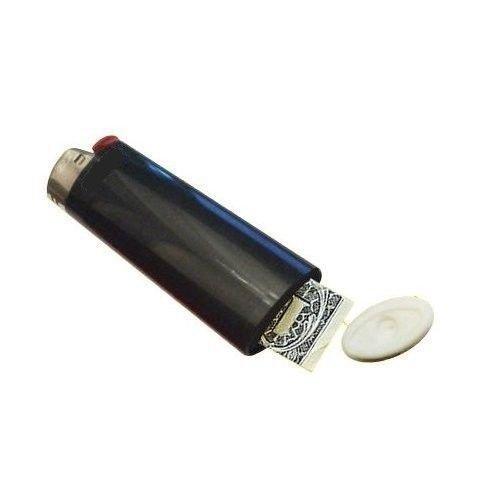 Secret Stash Lighter Hidden Compartment Pocket Diversion Safe (Black) by Deals n Sight