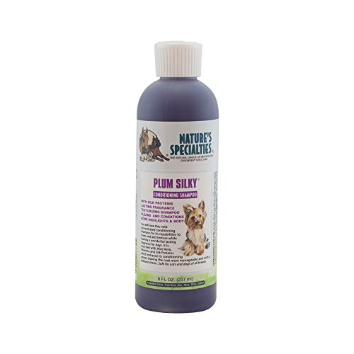Nature's Specialties Plum Silky Pet Shampoo for Dogs and Cats, Professional Groomers, Concentrate, 8oz