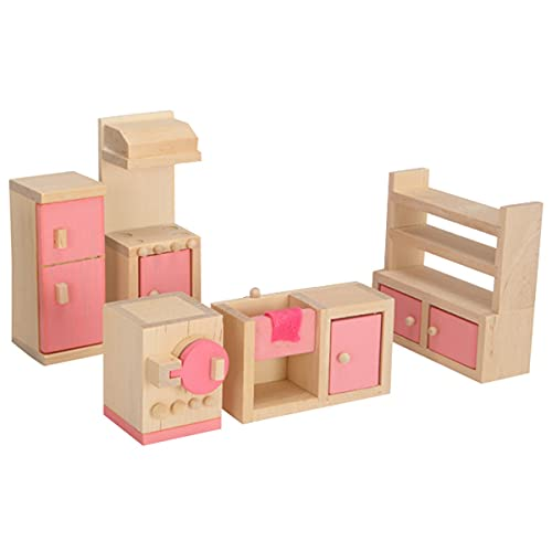 LUHUANONG Jugar Juguetes de la casa Rosa Muebles pequeños niños y niñas Cocina Dormitorio Doce ayudas de Sala de Estar Muebles Juguetes desarrollar Inteligencia (Color : 03)