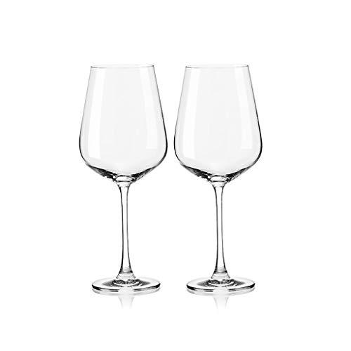 SFF Copas de Vino Copas de Vino Tinto Casas de Vino Transparente para Vino Tinto Stemawar Cup de Cup de 2 650ml / 21.9oz Cristal (Color : ClearA)