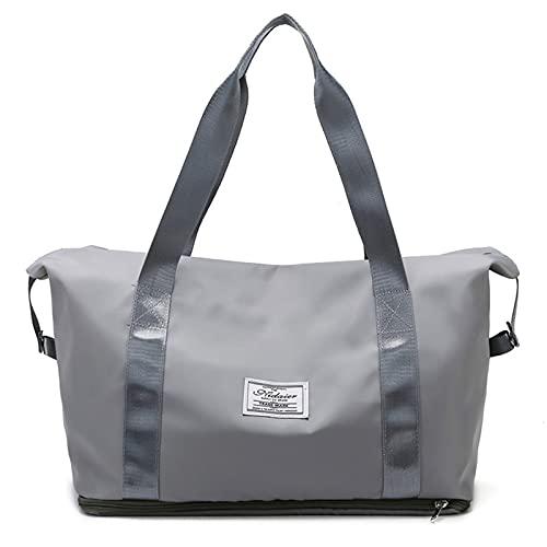 ZJM Freizeittasche Weekender,Reisetasche,wasserdichte Reise Handtasche,Reise-Gepäck Tasche Duffel Taschen,für Reisen Gepäck,Skalierbare Kapazität,Reisetasche