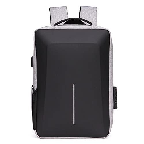 UKKD Zaino Scuola Zaino Antifurto Uomo Business Laptop Backpack Back Bag Impermeabile Ricarica 15.6 Daypack Maschi Maschili Zaini Da Uomo