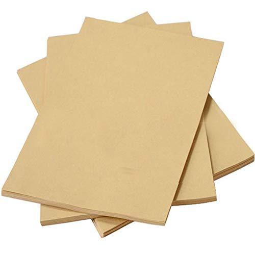 Xinlie Cartón Papel Cartón Natural en Alta Calidad Natural Brown Reciclado Papel Craft Papel Kraft Paquete de Tarjetas de Papel A4 Accesorios para Manualidades,Suministros de Artesanía (100 PCS)